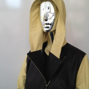 mlr_womanleatherhoodjacketblackandyellow
