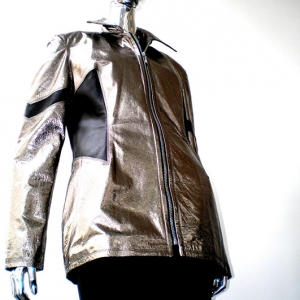 mlr_womansilverblackleatherjacket
